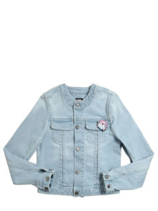 LadySi Lifestyle Blog Funny little girl wearing denim Fashion Kids