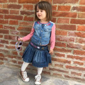 Lady Si Lifestyle Blog Funny little girl wearing denim Fashion Kids