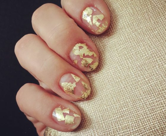Easy nail art with gold foil