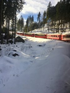 Lady Si Lifestyle Blog Bernina Red Train, a trip from Tirano to St. Moritz Kids Travel