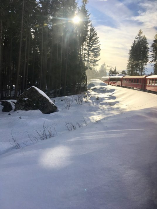 LadySi Lifestyle Blog Bernina Red Train, a trip from Tirano to St. Moritz Kids Travel
