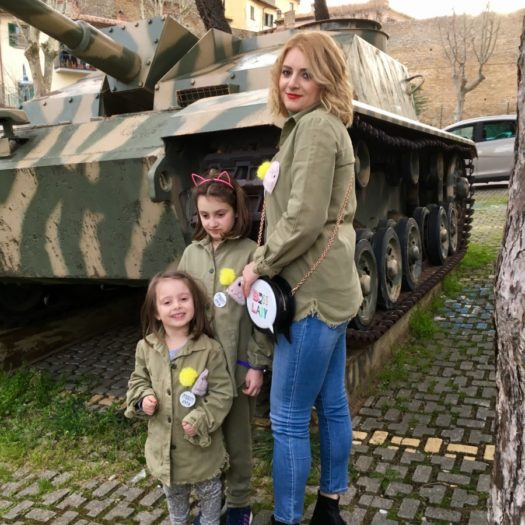 The little warriors with the military jacket