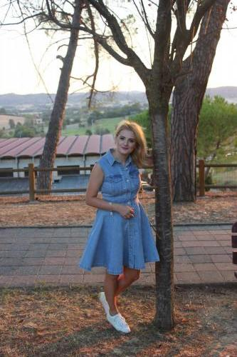 LadySi Lifestyle Blog A chemisier denim dress and a smiley face Fashion